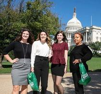 Schar students in front of the Captiol building Masters in Public Administration MPA